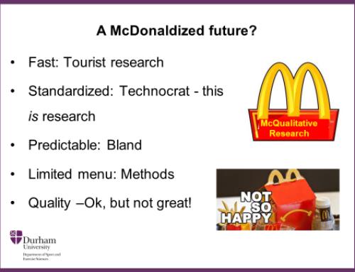 McDonalisering af kvalitativ forskning